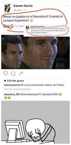 Cuando eres una ignorante en el fútbol        Gracias a http://www.cuantocabron.com/   Si quieres leer la noticia completa visita: http://www.estoy-aburrido.com/cuando-eres-una-ignorante-en-el-futbol/