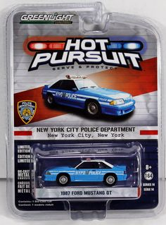 Greenlight Hot Pursuit Series 14 - 1987 Ford Mustang New York City Police Dept. #GreenlightCollectibles