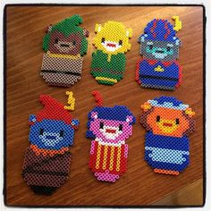 Disney's Adventures of the Gummi Bears hama beads by Hama Beads Design, Hama Beads Patterns, Beading Patterns, Seed Bead Crafts, Beaded Crafts, Fuse Beads, Pearler Beads, Perler Bead Disney, Cross Stitch Designs