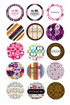 Coach design bottle cap images