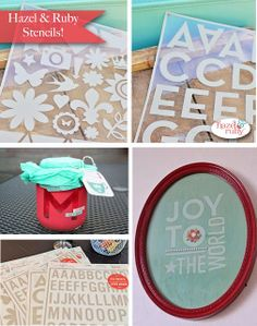 Create tons of DIY projects with Stencil-Masks from Hazel & Ruby.  Check out My Craft Channel.