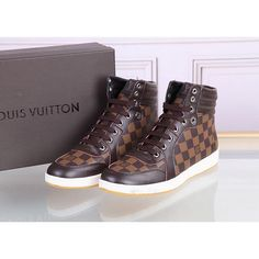 Louis Vuitton LV high-top Leather shoes for men, 1 : 1 quality trainers & sneakers Boot, inner hogskin #LNVSHO-486