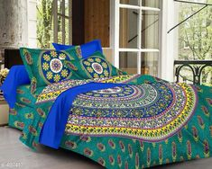 Checkout this latest Bedsheets Product Name: *Imperial Jaipuri Mandala Printed Double Bedsheet* Fabric: Bedsheet - Cotton  Pillow Covers - Cotton Dimension: ( L X W ) - Bedsheet - 90 in x 100 in Pillow Cover - 17 in x 27 in Description: It Has 1 Piece Of Double Bedsheet   2 Piece Of  Pillow Covers Work: Printed Thread Count: 160 Country of Origin: India Easy Returns Available In Case Of Any Issue   Catalog Rating: ★4.2 (2511)  Catalog Name: Cosmic Jaipuri Mandala Printed Double Bedsheets Vol 1 CatalogID_54718 C53-SC1101 Code: 544-497417-6501