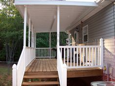 Patio Fence Trailer Trash Mobile Homes Country Chic Remodeling Ideas House Plans Porch Deck I Want