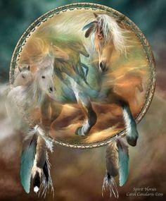 Spirit Horses...By Artist Carol Cavalaris...