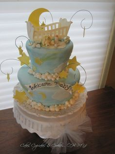 Breathtaking baby shower cake!