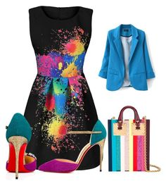"""""""Colors"""" by cayla-dy ❤ liked on Polyvore featuring Christian Louboutin and Sophie Hulme"""