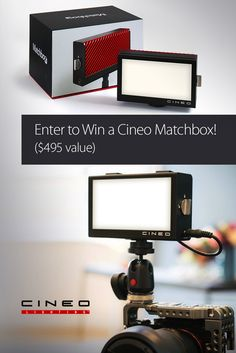 Enter to win your own @Cineo Matchbox (a $495 value)—a versatile, portable, beautiful light for video and photography.