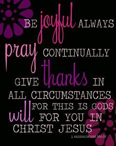 1 Thessalonians 5:16-18