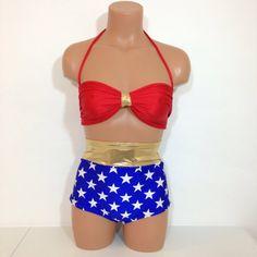 3c283e98e069e Wonder Woman inspired swimsuit