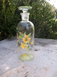 Vintage Handpainted Glass TCW Co. Apothecary by TheHoneysuckleTree, $8.00