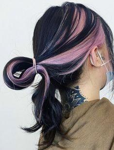 Hair Color Streaks, Hair Dye Colors, Hair Color Underneath, Pretty Hair Color, Tumbrl Girls, Dye My Hair, Aesthetic Hair, Pretty Hairstyles, Hair Looks