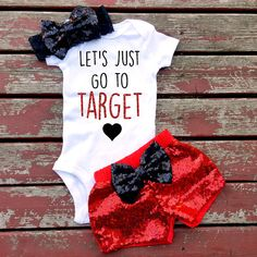 Let's Just go to Target Shirt Baby Girl Toddler Newborn New Baby Baby Shower Infant Gift Sparkle Glitter Sequins Baby Girl Fashion, Kids Fashion, Women's Fashion, Little Mac, Cute Maternity Outfits, Target Maternity, Maternity Dresses, Maternity Fashion, July Baby