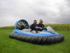 Hovercraft over grass - a lot less bother in a Hovercraft, see www.hovercraft.org