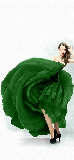 Glorious in Green #FashionSerendipity #fashion #gown