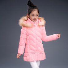 2016 НОВЫЙ горячий прибытие девушка натуральный мех хлопок jakcet пальто зимы детей и пиджаки пальто дети зимняя куртка Новый Высокое качество(China (Mainland))