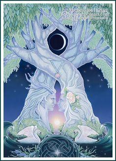 Ravynne Phelan - Dreams of Gaia Tarot and Fantasy Art Anima E Animus, Twin Flame Love, Twin Flames, Twin Souls, E Mc2, Mystique, Visionary Art, Tantra, Pics Art
