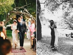 love the idea of carpets outside, and maybe a garland of grape vines overhead for the ceremony