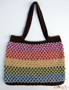 Moroccan Market Tote -free crochet pattern