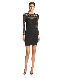 Black lace dresses are all the rage on the red carpet these days. I love this one by French Connection! http://amzn.to/1viZ4at All the style without the big price tag.