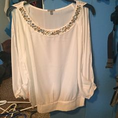 "Charlotte Russe shirt A ""long sleeve tank top"" of sorts. This is a super cute shirt and the second picture shows how the sleeves are open. Please make an offer  Charlotte Russe Tops Blouses"