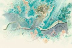 "Anton breaks. Illustration for the fairy tale ""The Little Mermaid."""