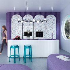 Viila in Ibiza Pastel Interior, Purple Interior, Shop Interior Design, Store Design, House Design, Interior Architecture, Interior And Exterior, Tropical Bedrooms, Pastel Designs