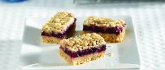 A magical mix of berries topped by buttery streusel. A truly tempting trap for a sweet tooth. With little lemon zest to lend a tasty contrast, make these bars two batches at a time. Baking Pans, Banana Bread, Raspberry, Desserts, Recipes, Berry Berry, Biscuits, Foods, Flat Cakes