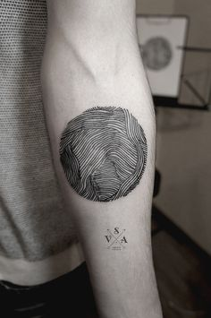 Geometric arm tattoo by Andrei Svetov. SV.A.