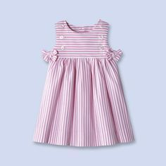 Baby, toddler and kids clothes, children's shoes and accessories - striped cotton dress Baby Girl Dress Patterns, Little Dresses, Little Girl Dresses, Girls Dresses, Baby Outfits, Toddler Outfits, Kids Outfits, Fashion Kids, Kids Frocks