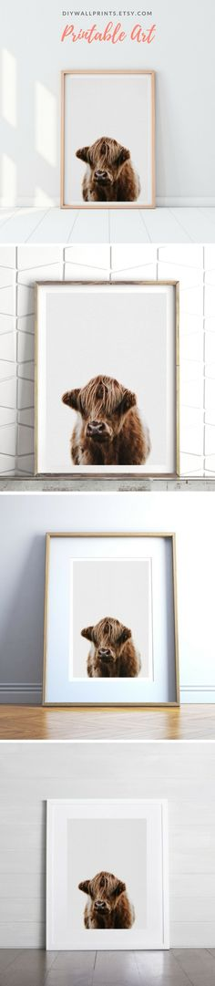 Farm Animal Printable Wall Art by DIY Wall Prints   Download today at diywallprints.etsy.com! Rustic Wall Art, Wall Art Decor, Printing Services, Online Printing, French Country Decorating, Printable Wall Art, Diy Wall, Farm Animals