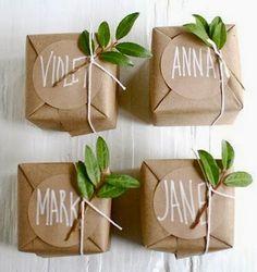 DIY Paquets Cadeaux