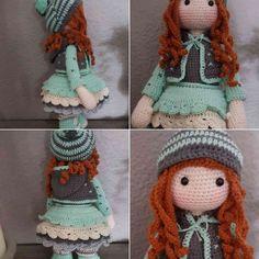 Doll Patterns Free, Free Pattern, Crochet Patterns, Crochet Dolls, Crochet Hats, Amigurumi Doll, Crochet Projects, Free Crochet, Doll Clothes