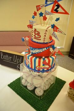 Baseball party... Love this cake and display!!!