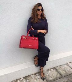 Stamatina Tsimtsili with Trussardi bag !! Buy online http://bit.ly/Labrini_Trussardi #labriniathens #trussardi #trussardibags #buyonline #stam_tsimtsili