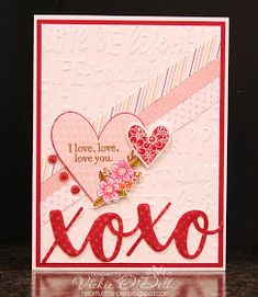 Welcome to our blog hop featuring the Close To My Heart Stamp of the Month, Adore You!  You may have just come from Donna Digby's bl...