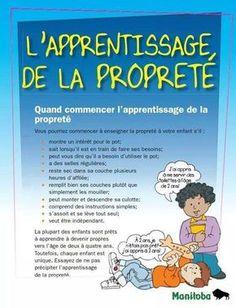 L'apprentissage de la propreté. Education Positive, Kids Education, Kids And Parenting, Parenting Hacks, Montessori, Child Life, Julia, Potty Training, Learn French