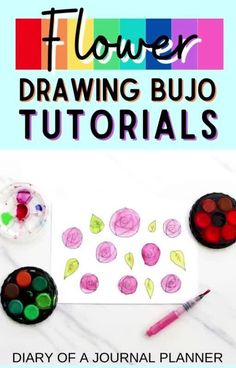 50+ best flower drawing tutorials to embellish the pages of your bullet journal! #bulletjournalflower #flowerdrawing #bulletjournaldoodles Easy Doodles Drawings, Easy Doodle Art, Cool Doodles, Simple Doodles, Flower Drawing Tutorials, Drawing Ideas, Doodle For Beginners, Bujo Doodles, Doodle Art Journals
