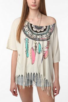 Oversized Indian-inspired tee