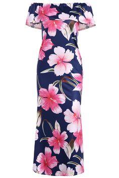 $13.11 Off The Shoulder Ruffle Floral Maxi Dress