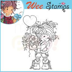 Whimsy Wee Rubber Stamp - Amy