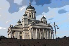 Uppoudu tähän interaktiiviseen kuvaan: Helsingin tuomiokirkko by Opettaja Helsinki, Taj Mahal, Louvre, Scene, Building, Travel, Viajes, Buildings, Destinations