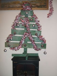 #Christmas, #ChristmasTree, #PalletDecoration, #RecycledPallet, #Tree