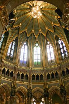 Inside the hungarian parliament