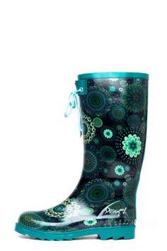 Botas de agua de mujer Desigual modelo Alile. Para que  seas la más chula de debajo de la lluvia.