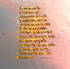 Tu puedes!! New Quotes, Quotes About God, Life Quotes, Inspirational Quotes, Motivational, Spanish Phrases, Spanish Quotes, Positive Vibes, Positive Quotes