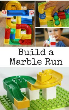 Build a marble run activity - kids learn so much while playing. So awesome