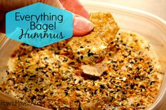 If you like an everything bagel, you will love this everything bagel hummus! It's easy to make homemade hummus!