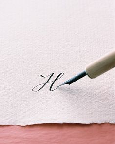 From MARTHA STEWART: How To Calligraphy #getcreative #adelinecrafts