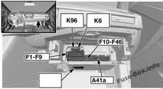 fuse box diagram (location and assignment of electrical fuses and relays)  for bmw